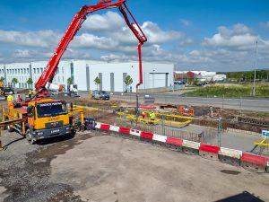 STEM Construction Salmlesbury concrete pour 1