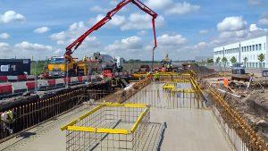 STEM Construction Samlesbury concrete pour 2